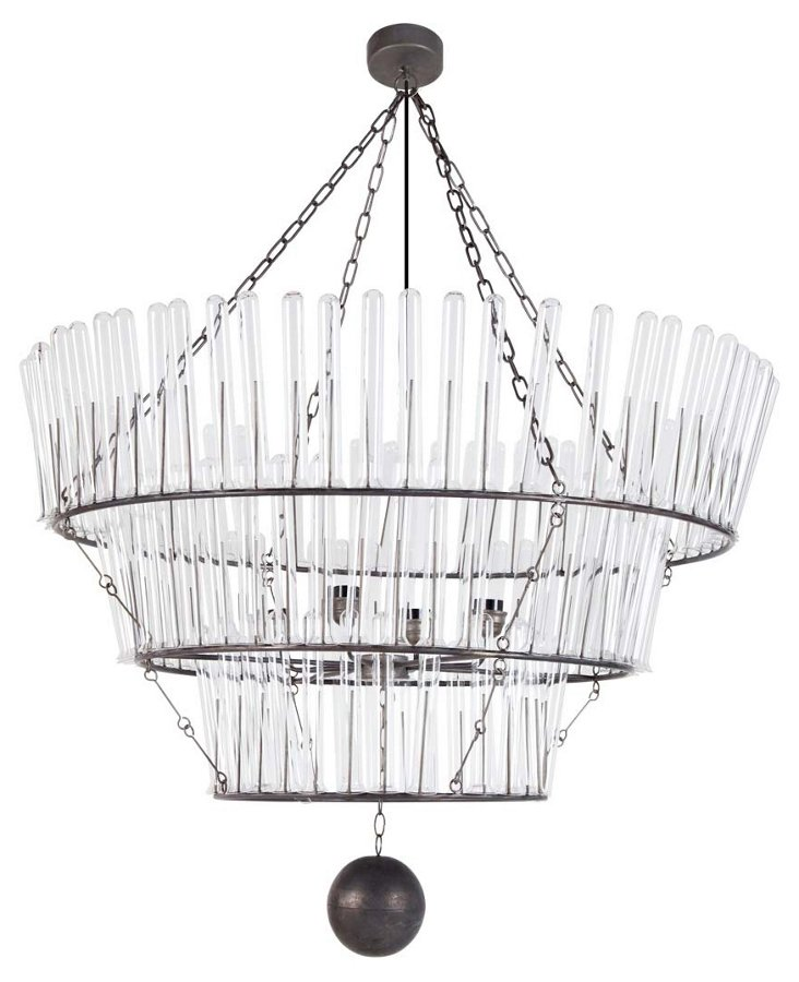 Arrington 3-Light Chandelier, Silver