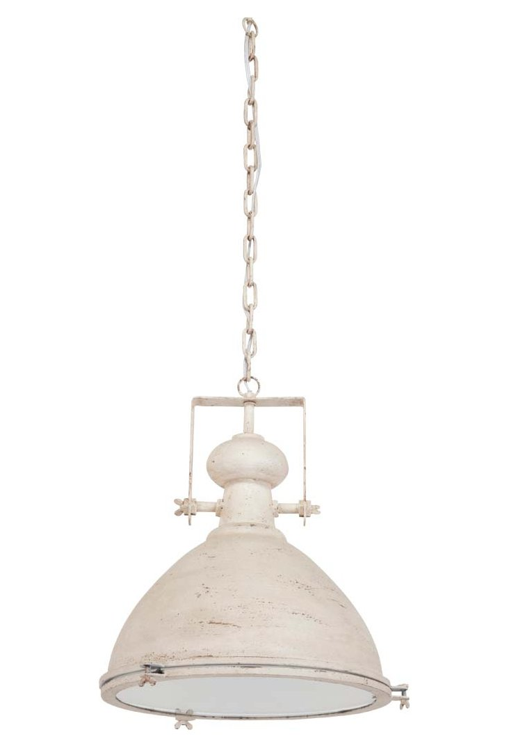 Mattie 1-Light Pendant, Rusted Ecru