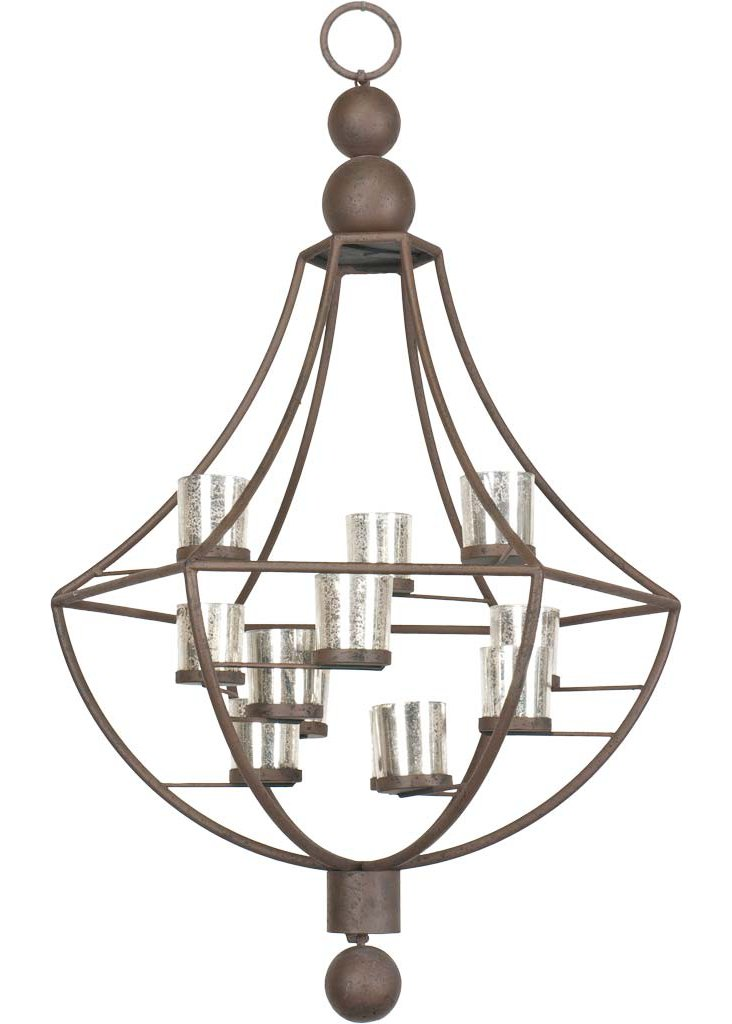 Carrey Silvered-Glass Chandelier