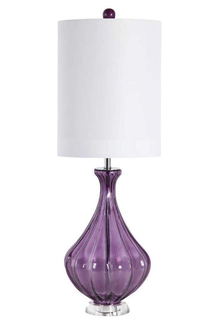 Della Table Lamp, Purple