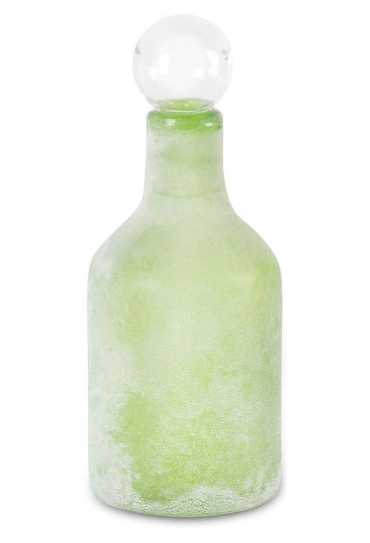 "14"" Glass Bottle, Green"