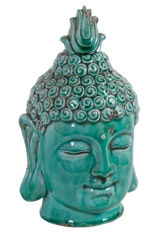 "11"" Buddha Head, Turquoise"
