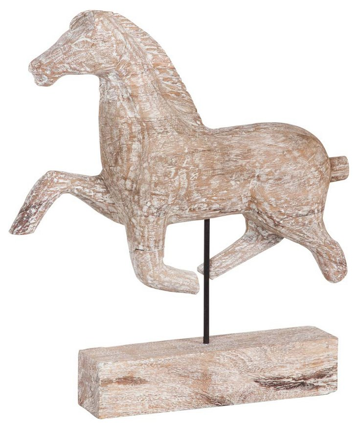 """22"""" Running Horse Objet, Tan"""