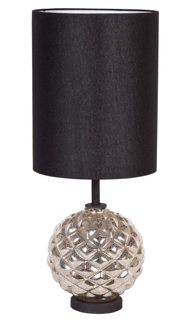 Mercer Table Lamp, Silver Glass