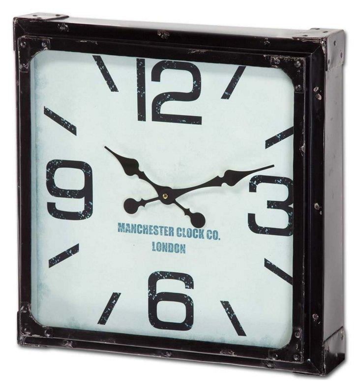Metal Wall Clock, Black