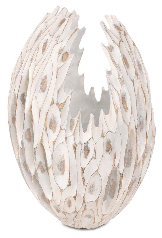 """18"""" Endor Vase, White"""