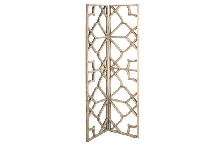 Two-Panel Deco Wood Screen