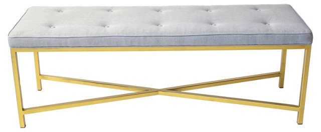 Gold X-Frame Bench