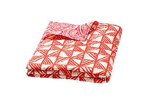 Moksha Reversible Quilt, Rivoli Coral