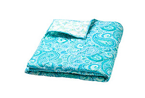 Moksha Reversible Quilt, Paisley Turq