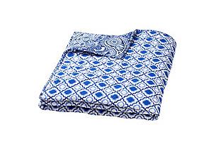 Moksha Reversible Quilt, Inez Navy