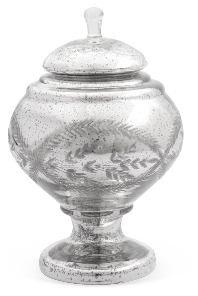 """6"""" Etched Apothecary Jar"""