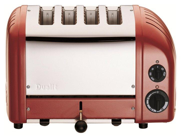 4-Slice NewGen Toaster, Red
