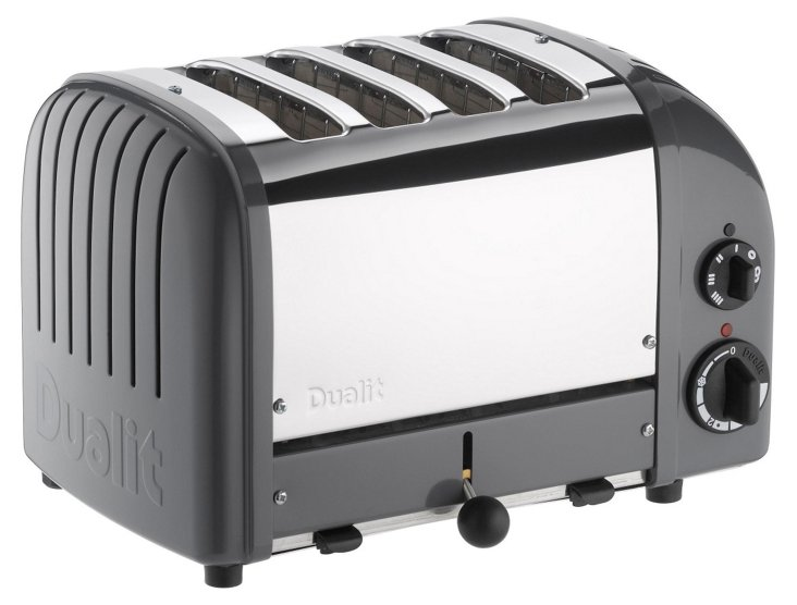 4-Slice NewGen Toaster, Gray