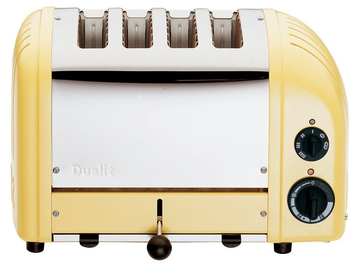 4-Slice NewGen Toaster, Yellow