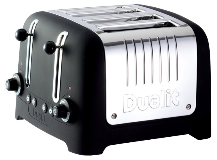 4-Slice Lite Toaster, Black