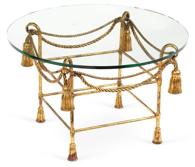 Wrought Iron & Glass Table