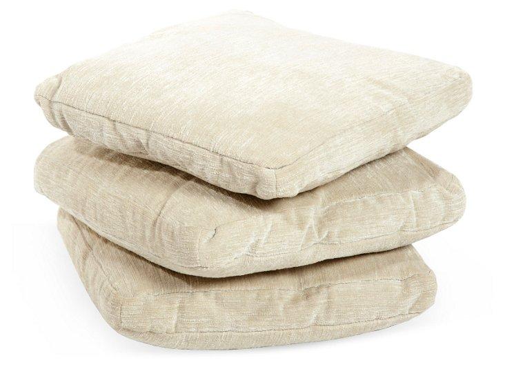Gray Minotti Pillows, Set of 3