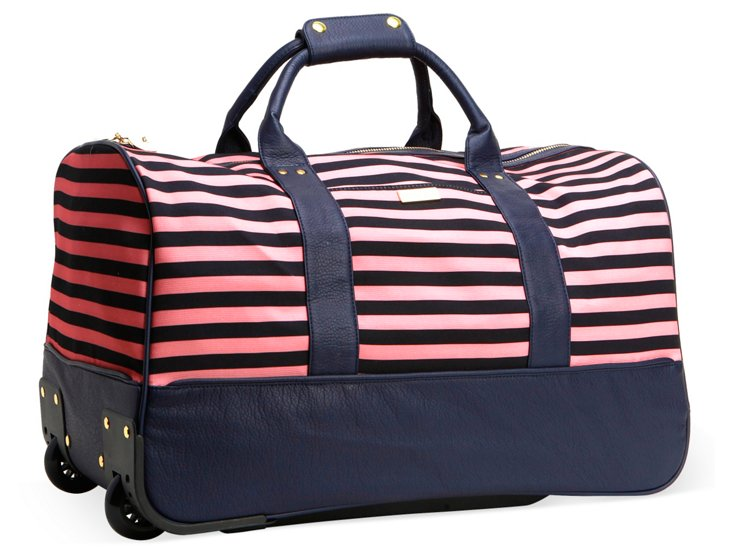 "22"" Raleigh Duffel, Navy/Peach"