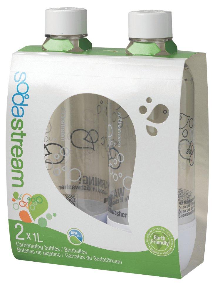 S/2 Carbonating Bottles, White