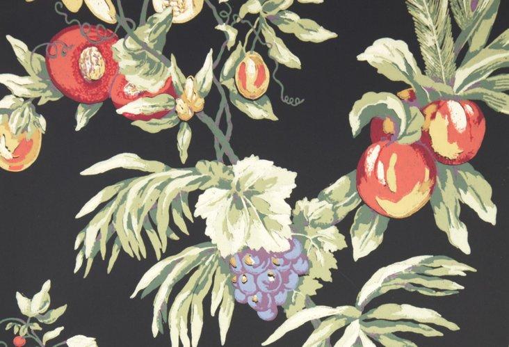 Capri Wallpaper, Black