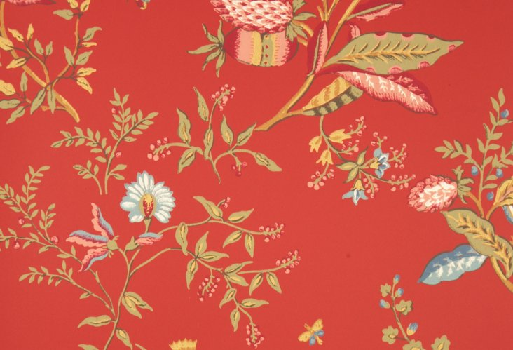 Camelot Wallpaper, Red