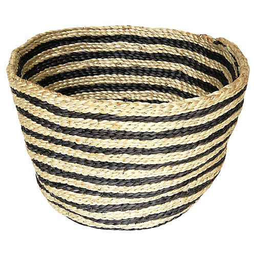 Jute Bowl Striped, Charcoal Stripe