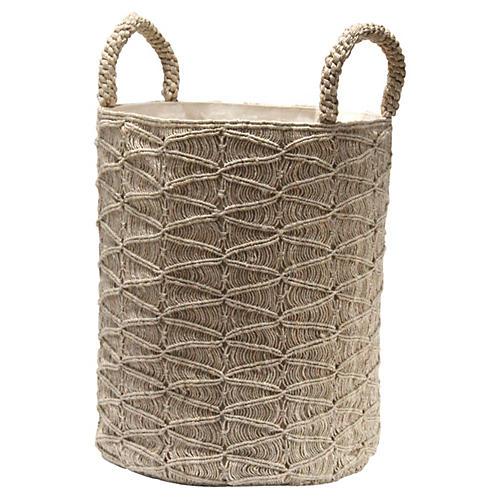 Macramé Ripples Basket