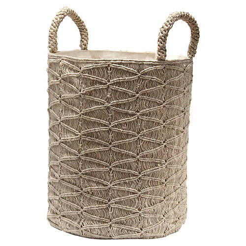 Macramé Ripples Basket