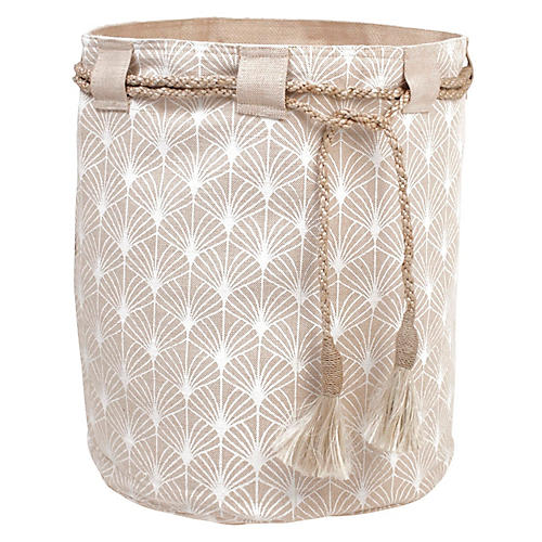 "18"" Hessian Sack, Pondicherry White"