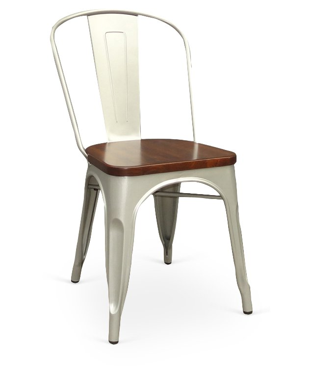 Silver Cora Chairs, Pair