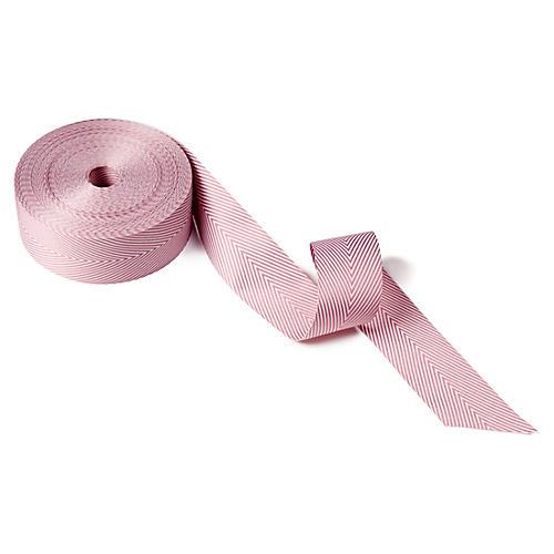 """1.5"""" Twill Striped Ribbon, Mauve"""