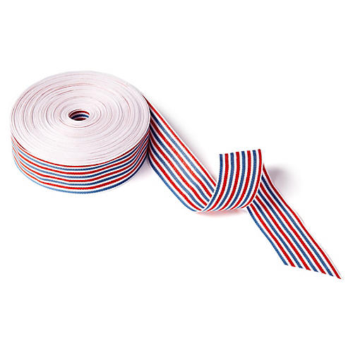 "1.5"" Striped Ribbon, Red/White/Blue"