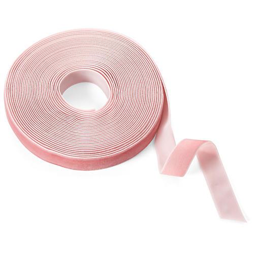 """3/4"""" Velvet Woven Ribbon, Pink"""