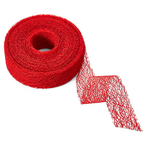 "1.5"" Net Ribbon, Red"