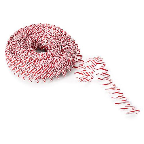 ".75"" Satin Cut-Out Ribbon, Candy Cane"