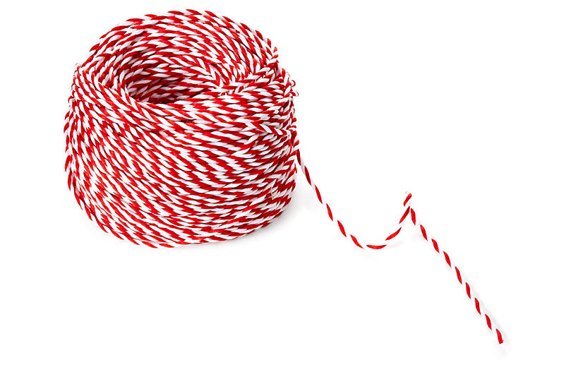 Twisted Rope, Red/White