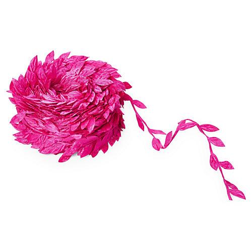"1"" Leaves Ribbon, Fuchsia"