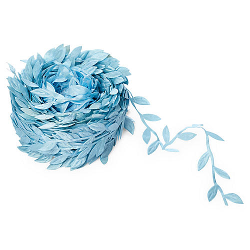 "1"" Leaves Ribbon, Lt Blue"