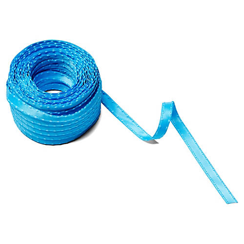 "3/8"" Satin Knotted Edge Ribbon, Blue"