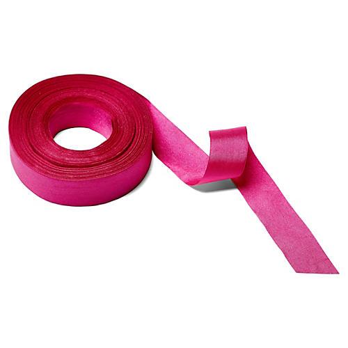 Solid/Wrinkled Ribbon, Fuchsia