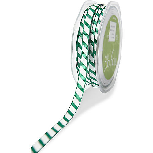 Sport Stripe Ribbon, Forest Green