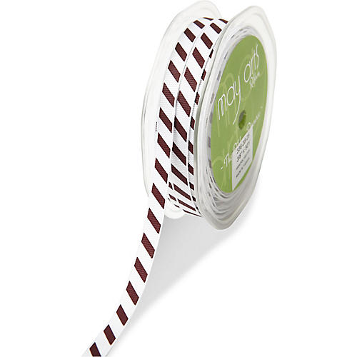 Sport Stripe Ribbon, Burgundy