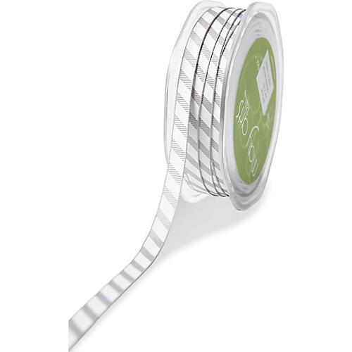 Sport Stripe Ribbon, Gray