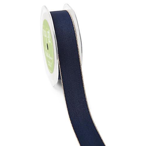 Solid Ribbon, Navy/Natural