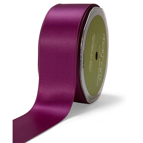 Double-Faced Satin Ribbon, Purple