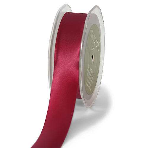 Single-Faced Satin Ribbon, Burgundy