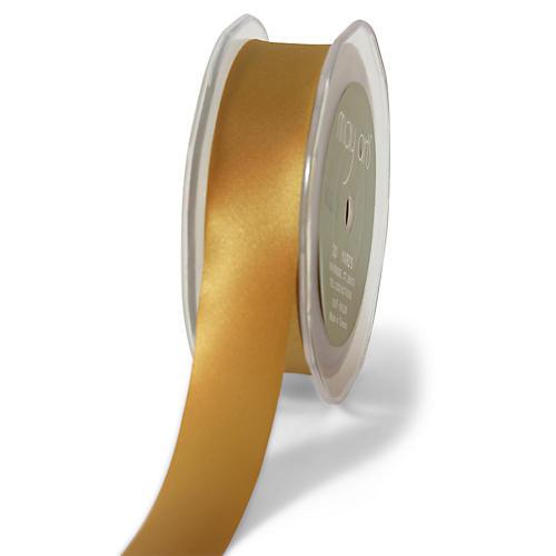Single-Faced Satin Ribbon, Gold