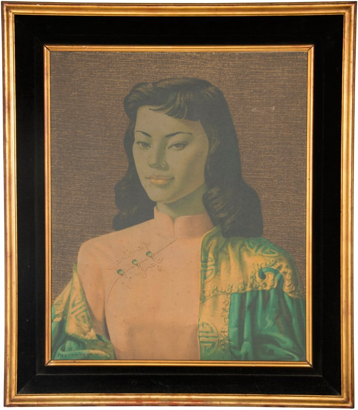 Framed Tretchikoff Print, Miss Wong
