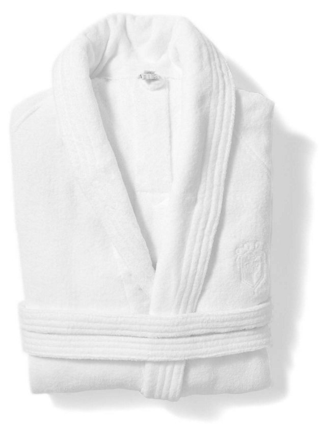 Hotel Terry-Velour Bathrobe, White